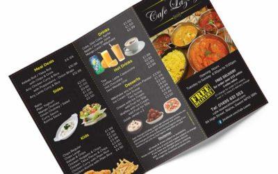 Takeaway menu printing UK
