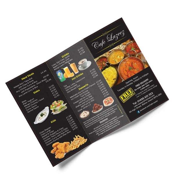 Takeaway menu Design