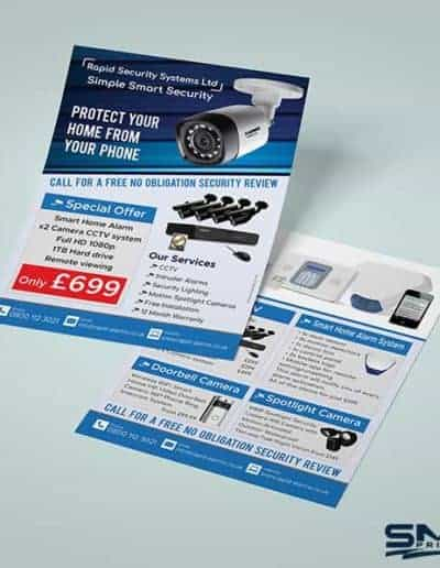 A5 leaflets with design