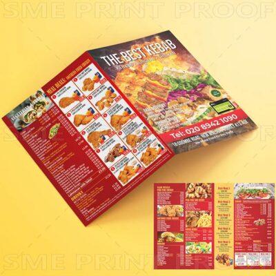 Kebab menu printing uk