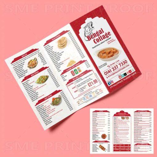 Restaurant Menu Printing UK