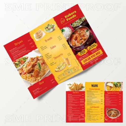 Cheap Takeaway menu printing London