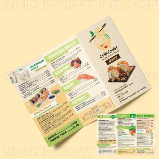 Sushi Menu Printing UK